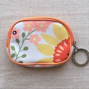 NWOT Clinique | Bright Floral Mini Makeup Bag